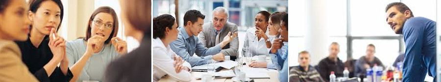 business people in meetings learning from executive coach
